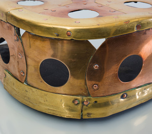Arts and Crafts Brass and Copper Fire Fender