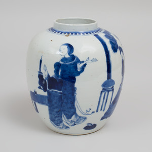 Chinese Blue and White Porcelain Ginger Jar