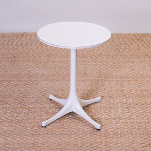 GEORGE NELSON FORMICA AND POWDER COATED METAL SIDE TABLE