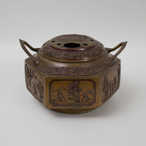 Chinese Bronze Censer and Cover
