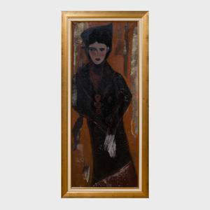 Annik Le Plage (b. 1943): Standing Woman