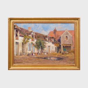 European School: Village Scene