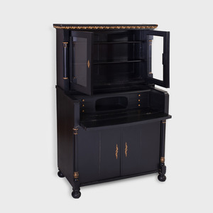 Continental Neoclassical Style Parcel-Gilt and Ebonized Secretaire