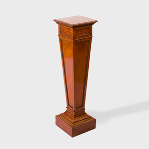 Regency Style Satinwood and Parcel-Gilt Pedestal