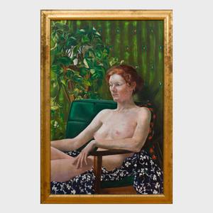 Greta Thyssen (1927-2018): Seated Nude