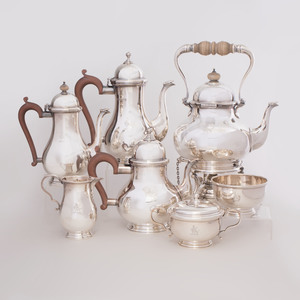 English Seven Piece Silver Tea and Coffee Service