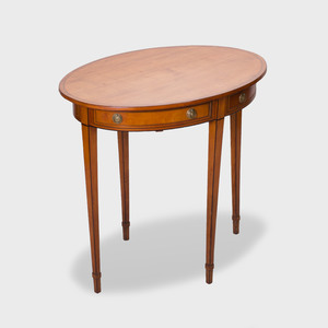 George III Inlaid Satinwood Oval Side Table