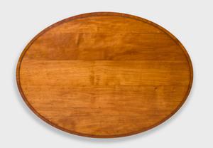 George III Inlaid Satinwood Oval Side Table