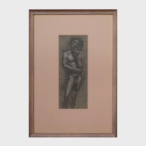 Paul Cadmus (1904-1999) : Standing Nude
