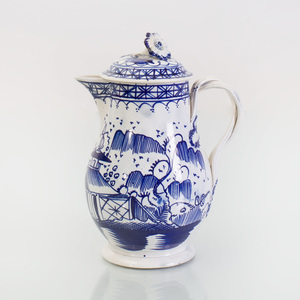 Leeds Type Pearlware Cream Jug and Cover