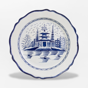 Leeds Creamware Blue and White Charger