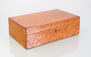 Federal Tiger Maple Document Box
