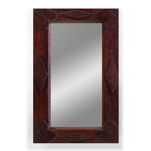 Small Stained Wood Tramp Art Mirror