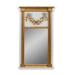 Small Federal Giltwood and Verre Églomisé Mirror