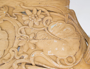 French Art Nouveau Carved and Painted Two Seat Sofa