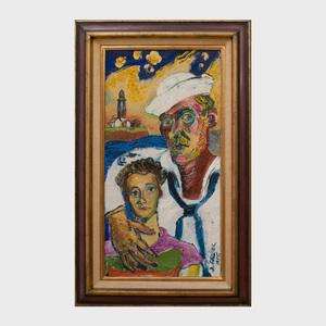 David Burliuk (1882-1967): Sailor and his Wife