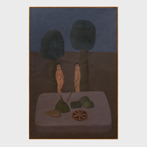 Antonio Samudio (1954): Naked Figures in a Landscape