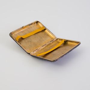 Russian Silver-Gilt and Cloisonne Enamel Cigarette Case