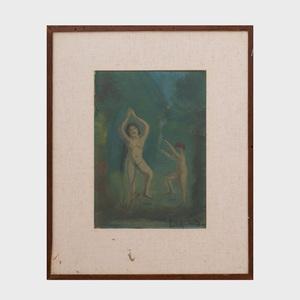 Louis Michel Eilshemius (1864-1941): Figures Dancing