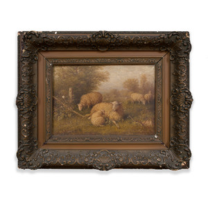 George Riecke (1848-1930): Sheep in a Meadow