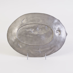 Three Art Nouveau Pewter Trays