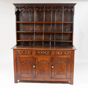 George III Welsh Oak Dresser with Superstructure