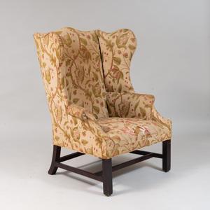 George III Mahogany Wing Armchair