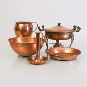 Group of Copper Kitchen Articles