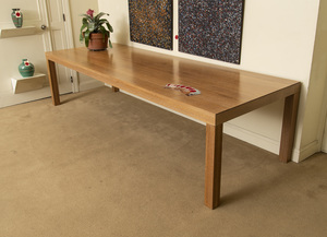 CERUSE OAK DINING TABLE
