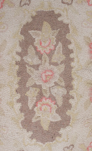Assembled Pair of American Floral Hooked Rugs