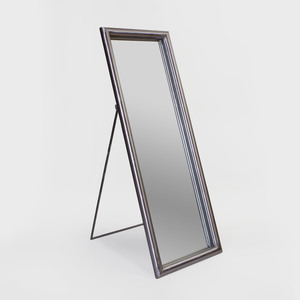 Modern Brushed Metal Dressing Mirror, of Recent Manufacture