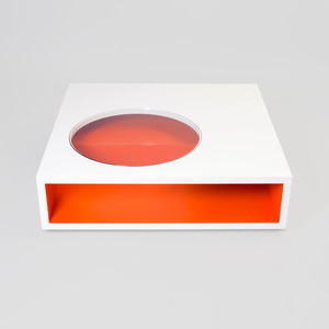Lacquer and Glass Low Table