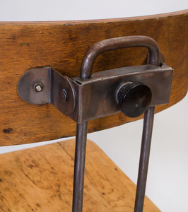 Set of Four Rustic Metal and Wood Bar Stools