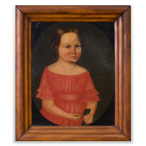 American School: Portrait of a Girl Holding a Rose