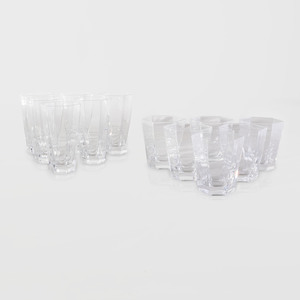 Set of Frank Lloyd Wright Colorless Glasses, for Tiffany & Co.
