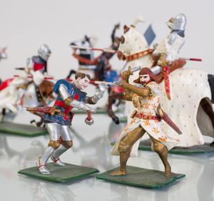 Group of Twenty Robert Courtenay Painted Lead Medieval Figures