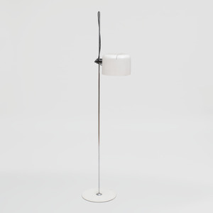 Joe Colombo Chrome and Painted Metal 'Coupe' Floor Lamp