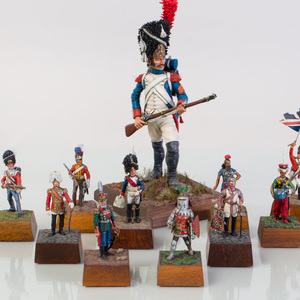Group of Eleven Keith Wippler Painted Lead Military Figures