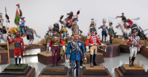 Group of Twenty-Nine Burgess Painted Lead and Composite Military and Historical Figures