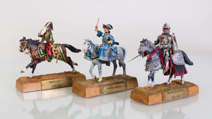 Pair of Louis Vuitton Painted Lead Military Figures and a Group of Nine other Painted Figures