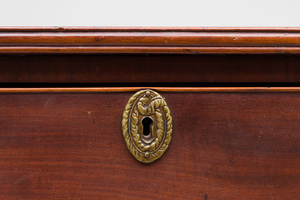 Federal Mahogany Bow-Fronted Chest of Drawers