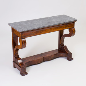 Louis Philippe Mahogany Console Table