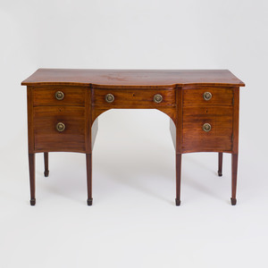 George III Inlaid Mahogany Serpentine-Fronted Sideboard