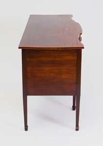 George III Inlaid Mahogany Serpentine-Fronted Sideboard