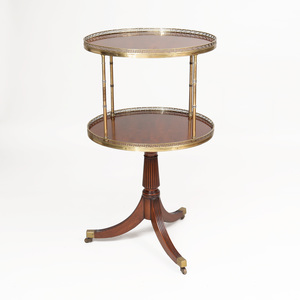 Regency Style Brass-Mounted Mahogany Two-Tier Dumb Waiter
