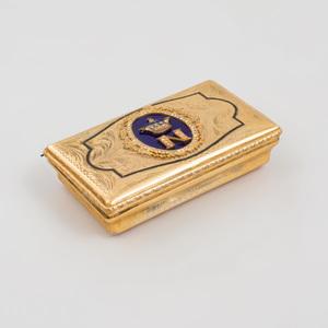 Italian Gilt-Metal and Enamel Snuff Box