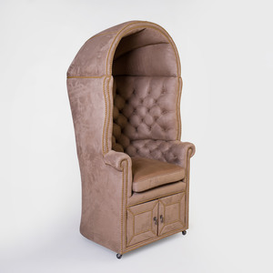 Contemporary Microsuede Upholstered Porter's Chair