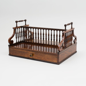 Regency Carved Rosewood Book Caddy