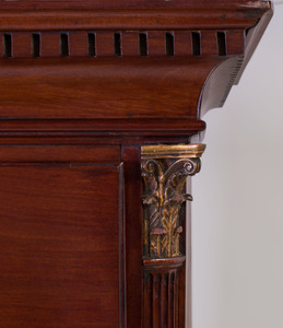 George III Mahogany Secretary Chest on Chest