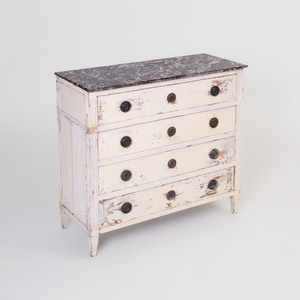 Continental White Painted Chest of Drawers